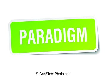 paradigm square sticker on white