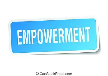 empowerment square sticker on white