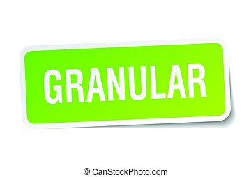granular square sticker on white