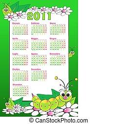 2011 Kid italian calendar with grubs - 2011italian calendar...