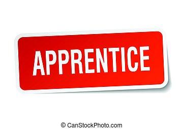 apprentice square sticker on white