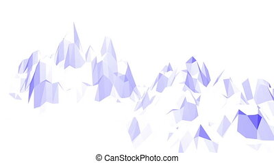 Violet or purple low poly waving surface as fashion...