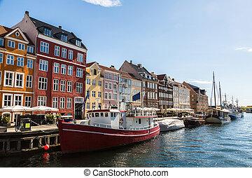 Nyhavn district  in Copenhagen