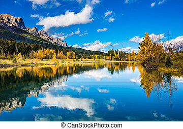 Canadian Rockies - Concept hiking. Canmore, near Banff....