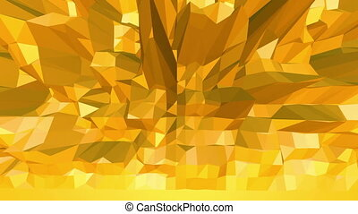 Yellow low poly background oscillating. Abstract low poly...