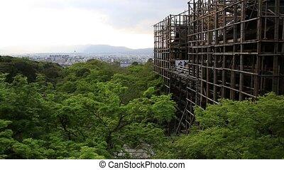 Kiyomizudera main hall - Japan aerial view of Kyoto...