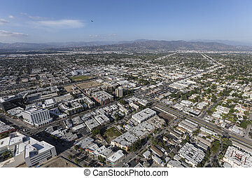 North Hollywood California Aerial View