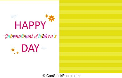 Happy childrens day greeting card style vector illutration