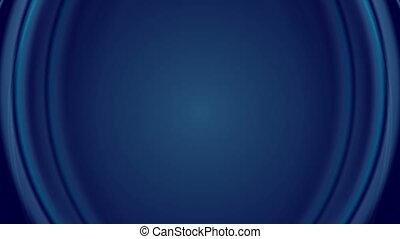 Dark blue iridescent flowing waves video animation - Dark...