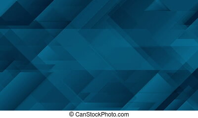 Abstract dark blue geometric video animation