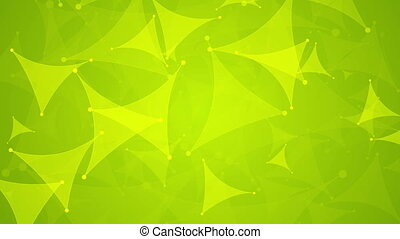 Abstract shiny green tech video animation - Abstract shiny...