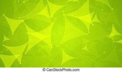 Abstract shiny green tech video animation - Abstract shiny...
