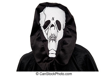 Grim reaper isolated on white