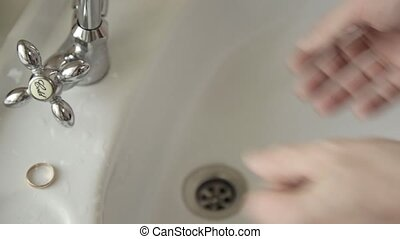 Man lathers and washes his hands. Cleaning Hands. Hygiene....