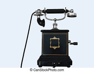Vintage Crank Phone. - old phone with large mouthpiece
