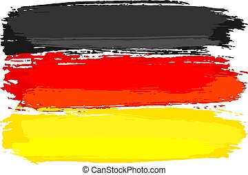 flag of Germany painted with brush strokes