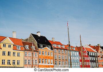 Nyhavn in Denmark - Beautiful Nyhaven street detail