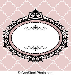 Decorative vintage frame - Decorative pink frame on the...