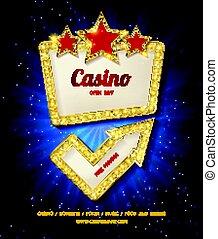 Shining Casino Banner. Vector illustration - Shining Casino...