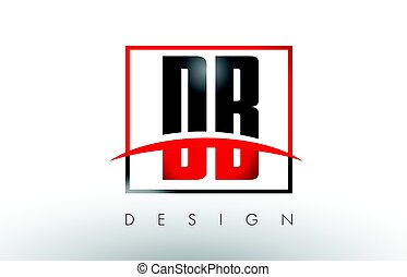 DB D B Logo Letters with Red and Black Colors and Swoosh....