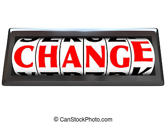 Change Word on Odometer Dials - The word Change in red...