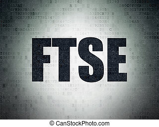 Stock market indexes concept: FTSE on Digital Data Paper...
