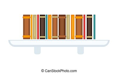 Bookcase with books - Vector illustration of simple bookcase...