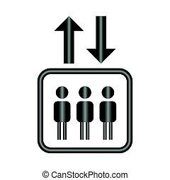 Lift symbol. Vector.