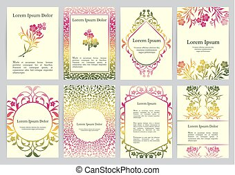 Vector templates for A4 with florals. Based on ancient...