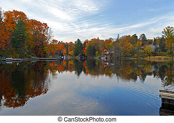 Autumn in Huntsville - Beautiful autumn in Ontario town...