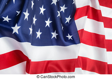 silk American flag Close up background decorate - vintage...