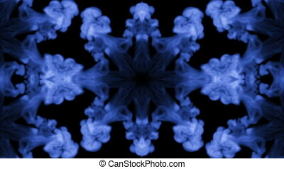 Ink kaleidoscope is abstract ink background like Rorschach...