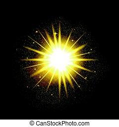 Shining star illustration