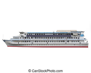 ship - The image of ship under the white background