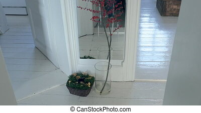 Red Berry Christmas Branch Decoration - A red berry branch...