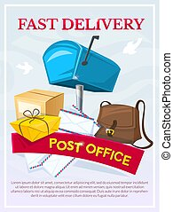 Post office concept design, vector illustration