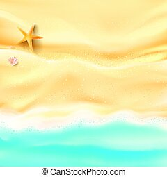 Abstract background sand and sea beach starfish shell and...