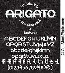 arigato typeface - Arigato typeface with ligatures