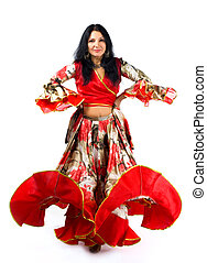 woman dance in gipsy costume