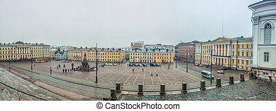 Senate Square in Helsinki. - View to the Senate Square from...