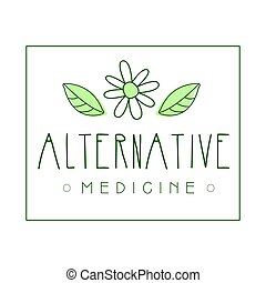 Alternative medicine logo symbol vector Illustration