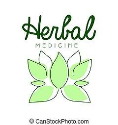 Herbal medicine logo symbol vector Illustration for business...