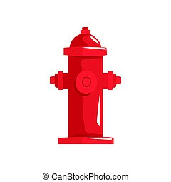 Red fire hydrant vector Illustration isolated on a white...