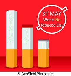 World No Tobacco Day vector - World No Tobacco Day May 31st,...