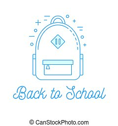 School backpack illustration, back to school concept