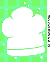 Silhouette of Chefs Hat Background - Vector Illustration of...