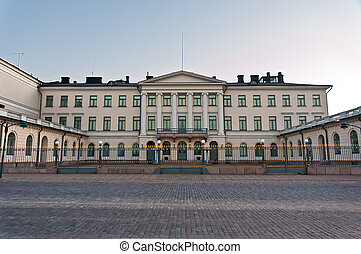 Presidential Palace, Helsinki, Finland - Front view of...