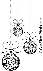 christmas balls in vector - isolated christmas balls with...