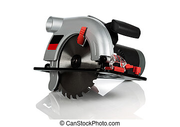 Circular saw on white background