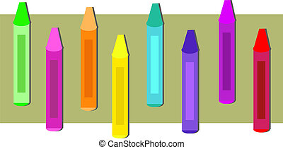 Group of Colorful Crayons